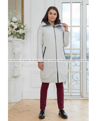 Женское демисезонное пальто 893 NordWind светло-серое